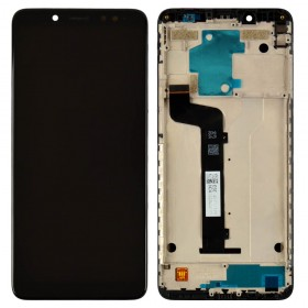 Дисплей для Xiaomi Redmi Note 5, Note 5 Pro с тачскрином в сборе,  цвет черный, копия высокого качества, с рамкой