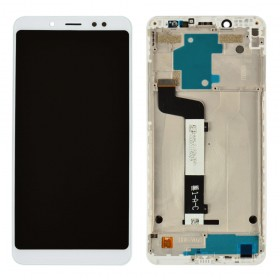 Дисплей для Xiaomi Redmi Note 5, Note 5 Pro с тачскрином в сборе, копия высокого качества, без рамки,  цвет белый