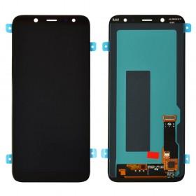 Дисплей для Samsung A600F /DS Galaxy A6 (2018) с тачскрином в сборе, без рамки,  цвет черный, оригинал замененное стекло