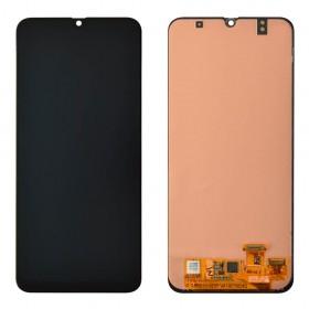 Дисплей для Samsung A305F /DS Galaxy A30 (2019) с тачскрином в сборе, оригинал замененное стекло,  цвет черный, без рамки