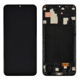 Дисплей для Samsung A305F /DS Galaxy A30 (2019) с тачскрином в сборе, с рамкой,  цвет черный, оригинал замененное стекло
