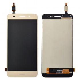 Дисплей Huawei Y3/Y5 Lite (CRO-U00/CRO-L02/CRO-L22) 2017, с тачскрином в сборе, без рамки,  цвет золотой