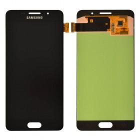 Дисплей Samsung Galaxy A5 A510F/DS (2016) с тачскрином в сборе,  цвет черный, оригинал замененное стекло, без рамки