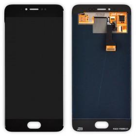 Дисплей Meizu Pro 6 с тачскрином в сборе, без рамки, copy,  цвет black