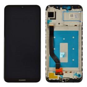 Дисплей для Huawei Y7 2019, Y7 Prime 2019, Y7 Pro 2019 (DUB-LX1, DUB-LX3, DUB-LX2) с тачскрином в сборе,  цвет черный, с рамкой, копия высокого качества
