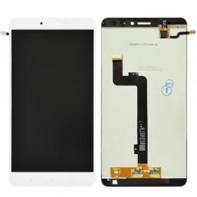 Дисплей Xiaomi Mi Max 2 с тачскрином в сборе, копия высокого качества, без рамки,  цвет белый