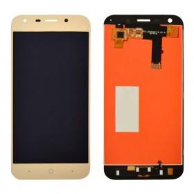 Дисплей для ZTE A6/A6 Lite с тачскрином в сборе, без рамки,  цвет золотой