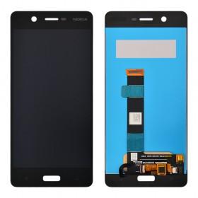 Дисплей Nokia 5 Dual Sim с тачскрином в сборе,  цвет black, без рамки, copy