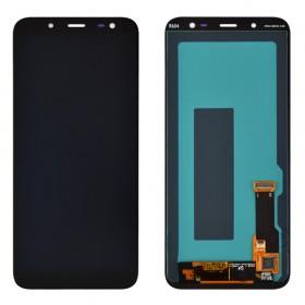 Дисплей для Samsung j600H/DS Galaxy J6 (2018) с тачскрином в сборе, без рамки, оригинал замененное стекло,  цвет черный