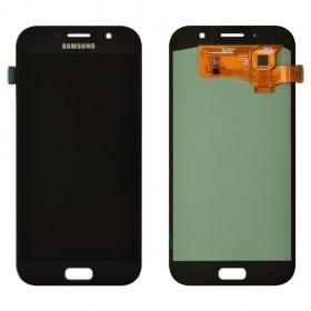 Дисплей Samsung A720F Galaxy A7 (2017) с тачскрином в сборе, без рамки, prc oled,  цвет black