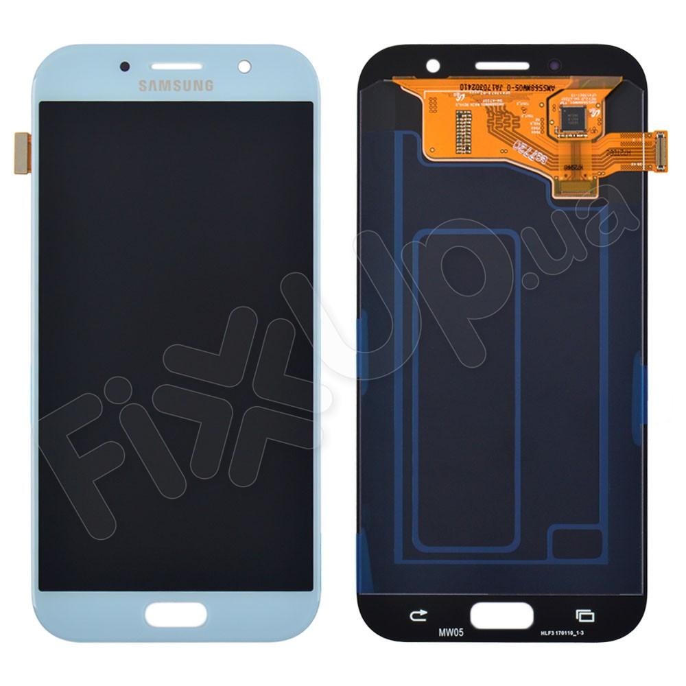 Дисплей Samsung A720F/DS Galaxy A7 (2017) с тачскрином в сборе, цвет синий, сервисный оригинал фото 1