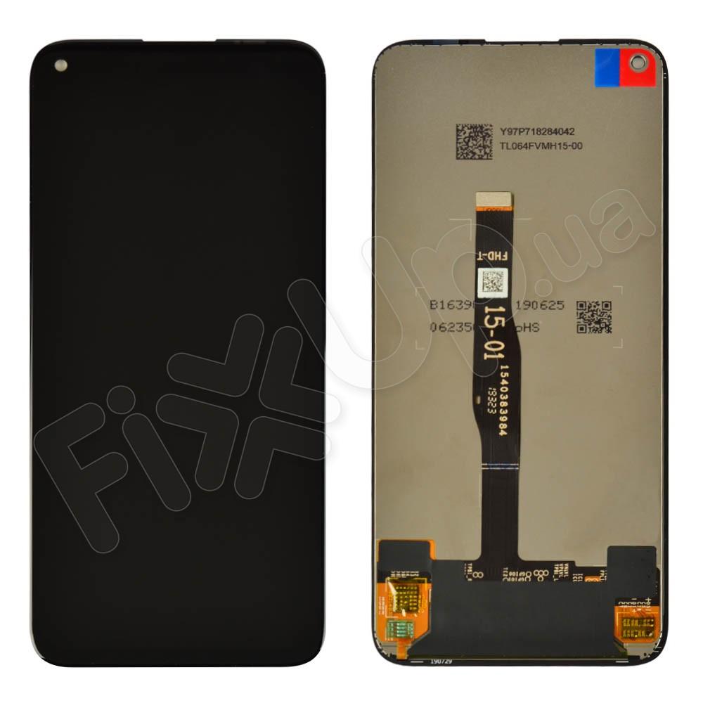 Дисплей для Huawei P40 Lite с тачскрином в сборе,  цвет черный, оригинал, без рамки