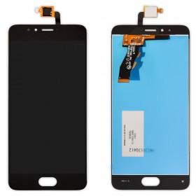 Дисплей Meizu M5S, M5S mini с тачскрином в сборе, без рамки, копия,  цвет черный