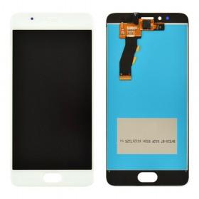 Дисплей Meizu M5S, M5S mini с тачскрином в сборе, копия высокого качества, без рамки,  цвет белый