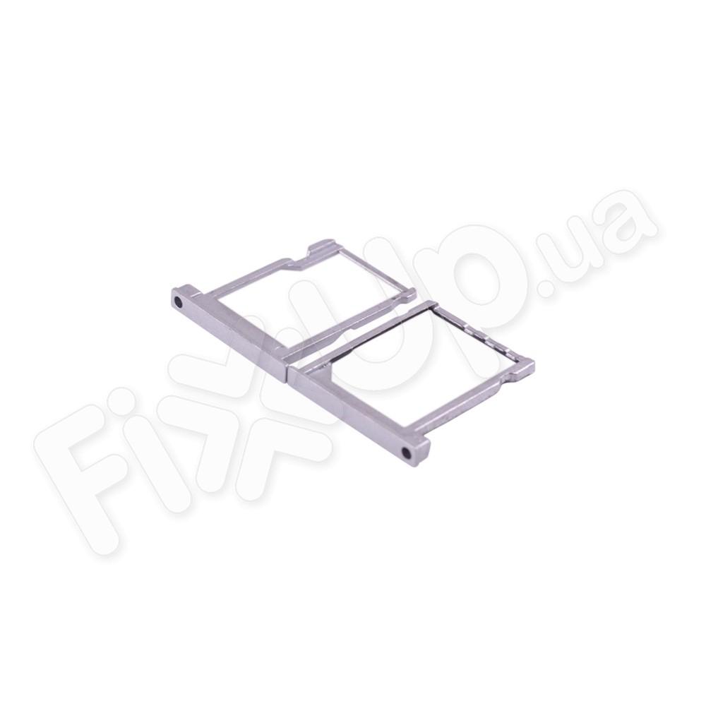 Держатель сим карты и карты памяти для Huawei P6-U06 (2шт.), цвет серебро фото 1