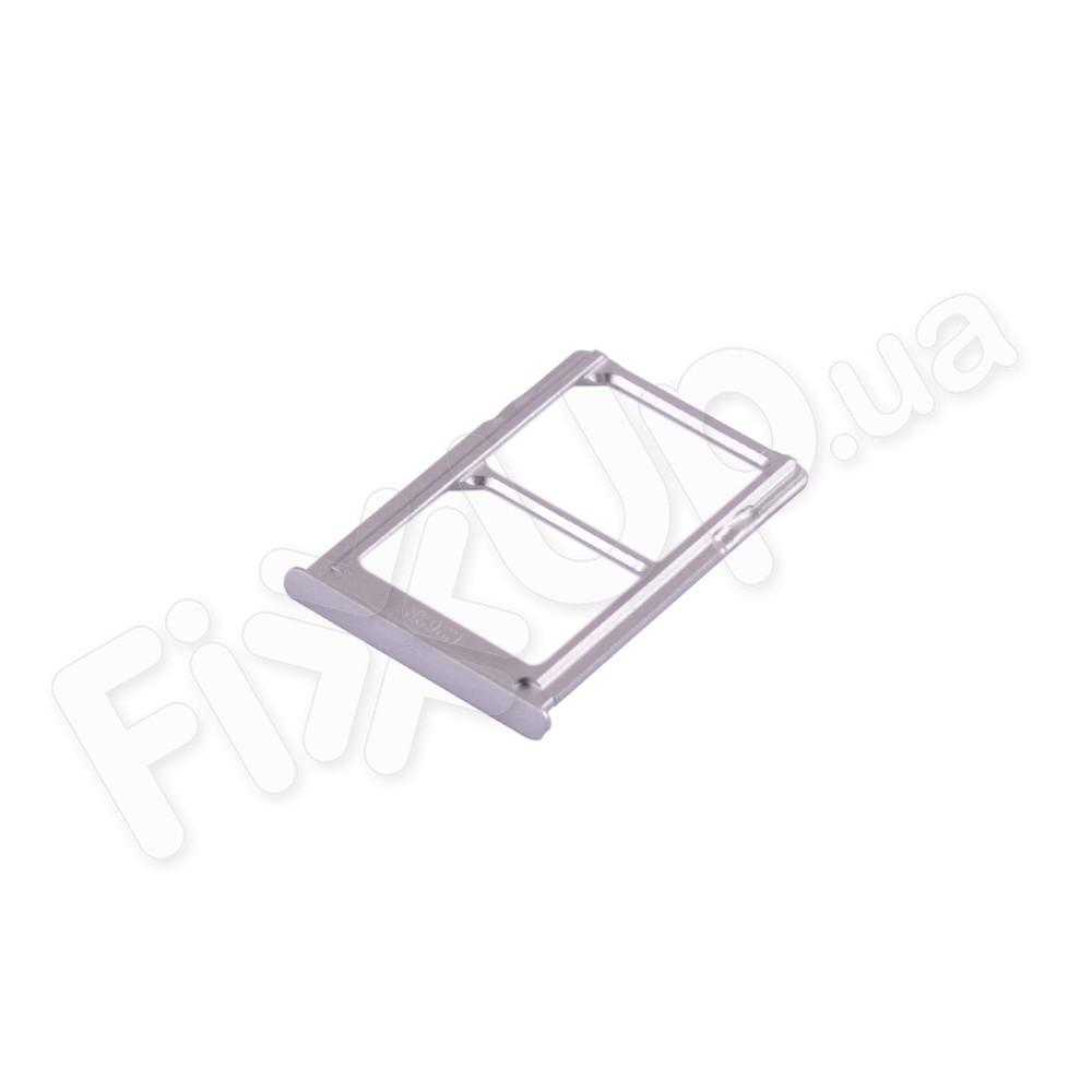 Держатель сим карты Xiaomi Mi5, цвет серебро, 2 Sim фото 1