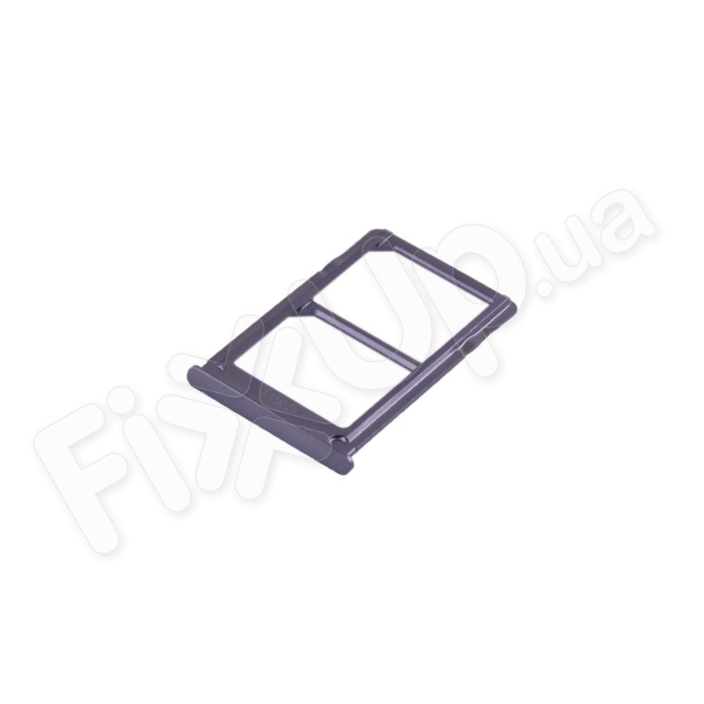 Держатель сим карты Xiaomi Mi5, цвет черный, 2 Sim фото 1