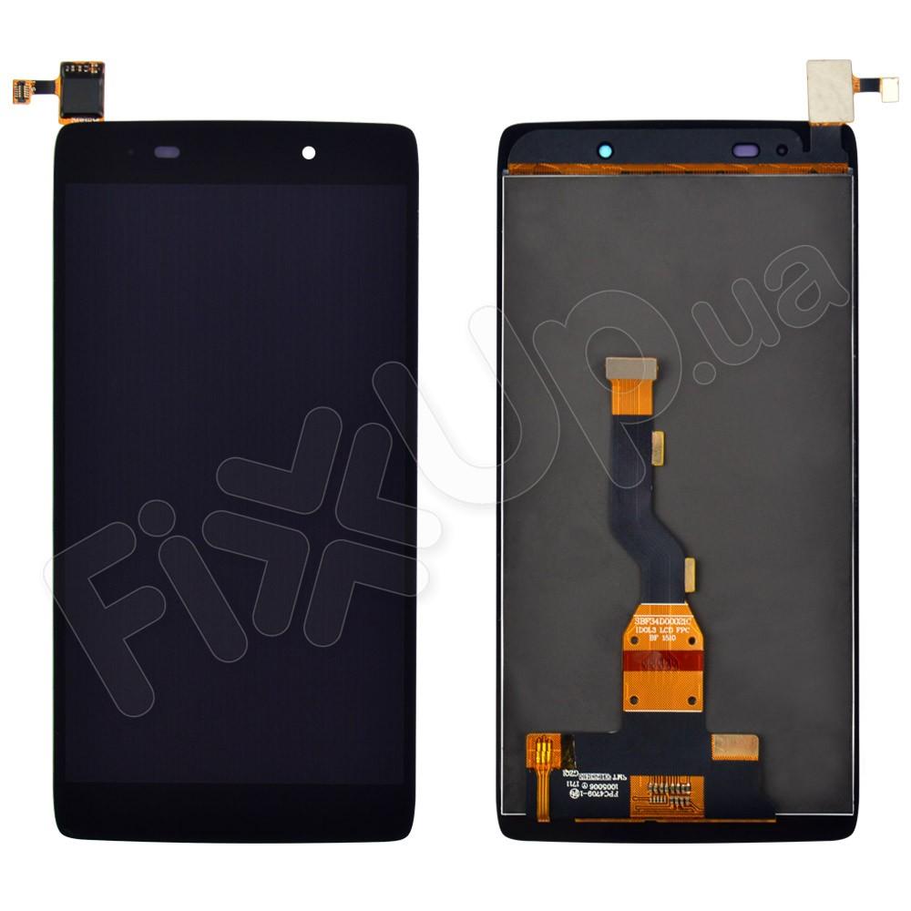Дисплей Alcatel 6039Y One Touch Idol 3 mini LTE с тачскрином в сборе, цвет черный фото 1