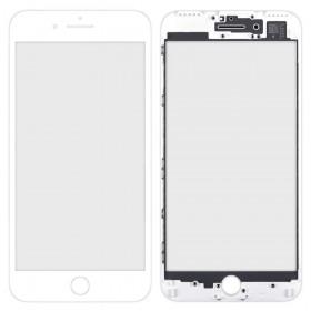 Стекло корпуса для iPhone 7 Plus (5.5),  цвет white, с рамкой, copy