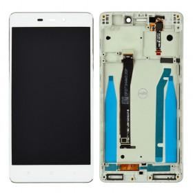 Дисплей Xiaomi Redmi 3, 3S, 3X, 3 Pro с тачскрином в сборе, оригинал,  цвет белый, с рамкой