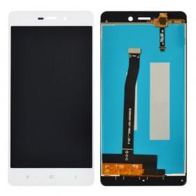 Дисплей Xiaomi Redmi 3, 3S, 3X, 3 Pro с тачскрином в сборе, без рамки,  цвет белый, копия высокого качества