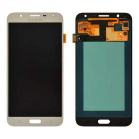 Дисплей Samsung J701H, J701F, J701M/DS Galaxy J7 Neo с тачскрином в сборе,  цвет silver, без рамки, prc oled