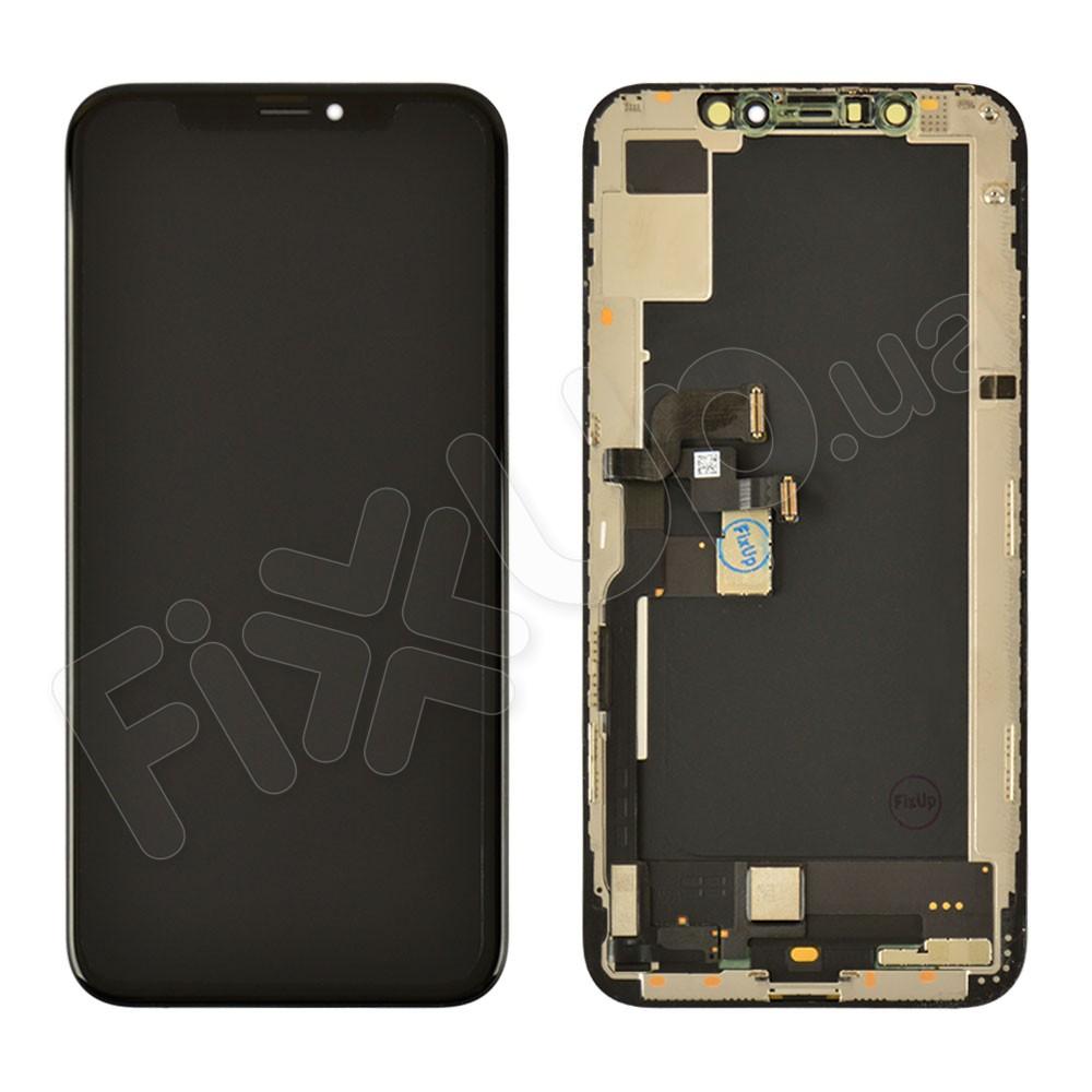 Дисплей для iPhone XS (5.8) с тачскрином в сборе, цвет черный, оригинал с разбора фото 1