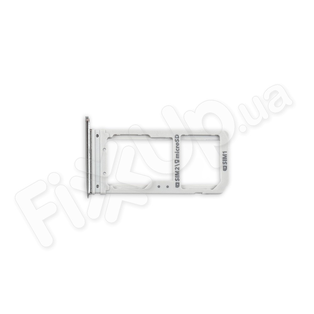 Лоток для сим карты Samsung G930F Galaxy S7, цвет серый, Dual фото 1