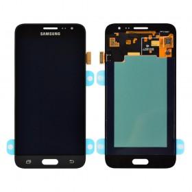 Дисплей Samsung J320H/DS Galaxy J3 с тачскрином в сборе,  цвет черный, без рамки, оригинал замененное стекло