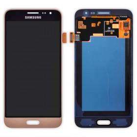 Дисплей Samsung J320H/DS Galaxy J3 с тачскрином в сборе, service original, без рамки,  цвет gold