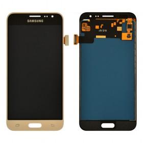 Дисплей Samsung J320H/DS Galaxy J3 с тачскрином в сборе,  цвет золотой, без рамки, tft с регулировкой яркости