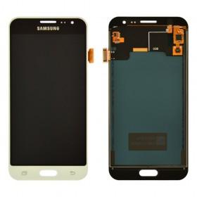 Дисплей Samsung J320H/DS Galaxy J3 с тачскрином в сборе, без рамки, prc tft с регулировкой,  цвет white