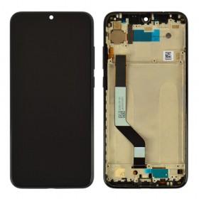 Дисплей для Xiaomi Redmi Note 7, Note 7 Pro с тачскрином в сборе,  цвет черный, с рамкой, копия высокого качества