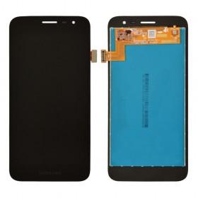 Дисплей для Samsung J260H Galaxy J2 Core (2018) с тачскрином в сборе, без рамки,  цвет черный, оригинал замененное стекло