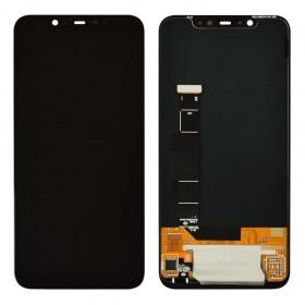 Дисплей для Xiaomi Mi8 с тачскрином в сборе, без рамки, оригинал замененное стекло,  цвет черный
