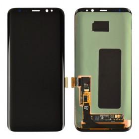 Дисплей для Samsung G955 Galaxy S8 Plus с тачскрином в сборе, оригинал замененное стекло,  цвет черный, без рамки