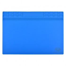 Коврик для рабочего стола с магнитной лентой 250*350 мм, силиконовый,  цвет синий