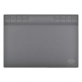 Коврик для рабочего стола с магнитной лентой 250*350 мм, силиконовый,  цвет серый