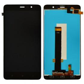 Дисплей Xiaomi Redmi Note 3, Note 3 Pro с тачскрином в сборе, 147мм, копия высокого качества,  цвет черный, без рамки
