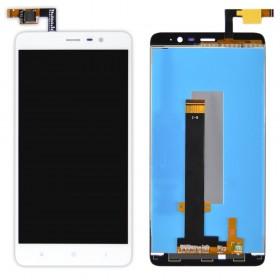 Дисплей Xiaomi Redmi Note 3, Note 3 Pro с тачскрином в сборе, 147мм, без рамки,  цвет белый, копия высокого качества