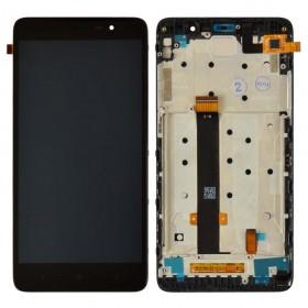 Дисплей Xiaomi Redmi Note 3, Note 3 Pro с тачскрином в сборе, 147мм, копия высокого качества, с рамкой,  цвет черный