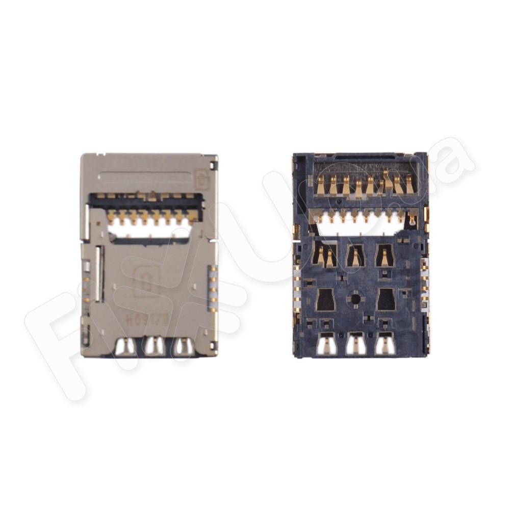Разъем сим карты и карты памяти LG D618, D690, D722, D724, D850 G3, D851, D855, H818, F400, LS990, VS985, 1 sim фото 1