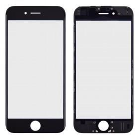 Стекло корпуса для iPhone 6 (4.7), с рамкой, copy,  цвет black
