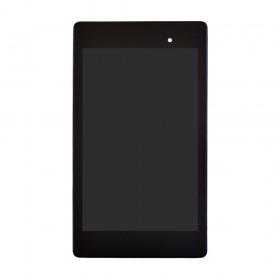 Дисплей Asus Google Nexus 7 (ME571K/ME572) (2013) с тачскрином в сборе, с рамкой, rev. 2 3g,  цвет черный