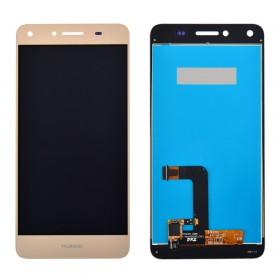 Дисплей Huawei Y5 II/Honor 5/Honor Play 5 (CUN-U29 /CUN-L21) с тачскрином в сборе, копия, без рамки,  цвет золотой
