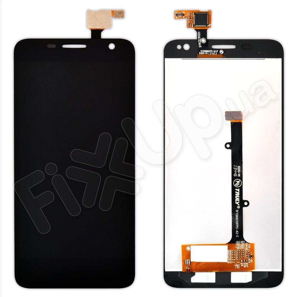 Дисплей Alcatel One Touch 6012D Idol Mini (6012X) с тачскрином в сборе, цвет черный, большая микросхема фото 1