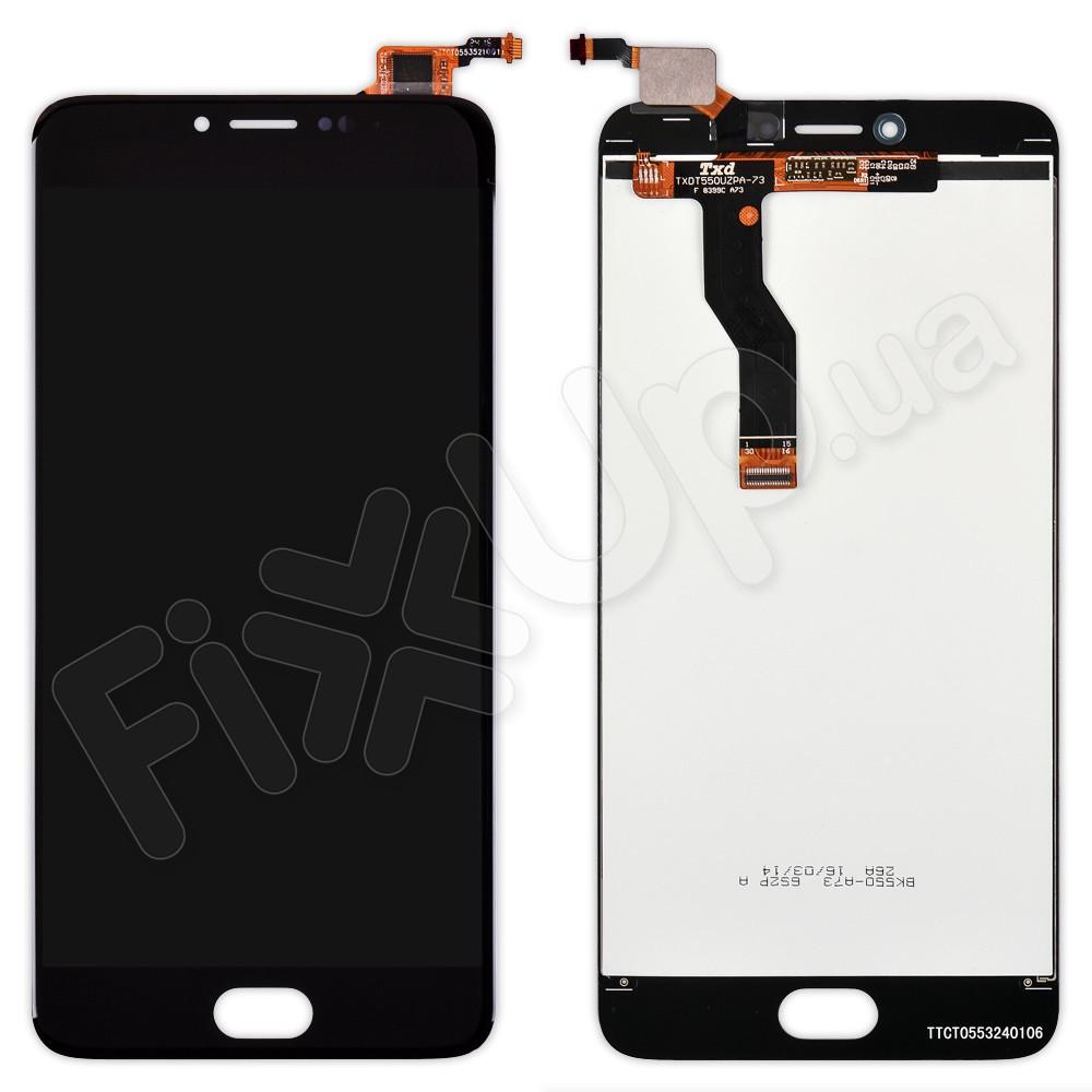 Дисплей Meizu M3 Note с тачскрином в сборе, цвет черный, версия L681h фото 1