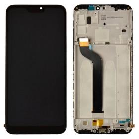 Дисплей для Xiaomi Mi A2 Lite/Redmi 6 Pro с тачскрином в сборе, с рамкой,  цвет черный, копия высокого качества