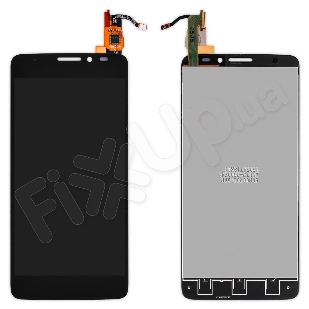 Дисплей Alcatel One Touch Idol X 6040D с тачскрином в сборе, цвет черный фото 1