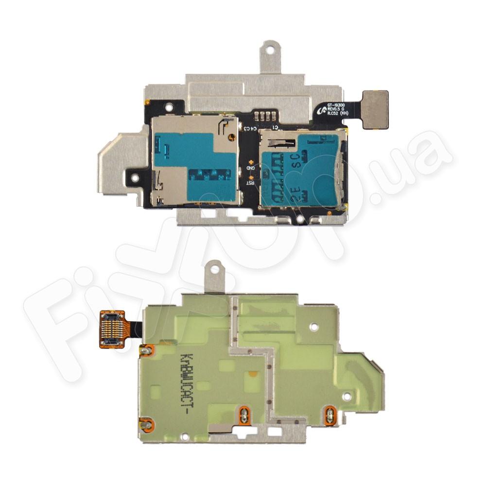 Слот для сим карты и карты памяти Samsung Galaxy S3 (i9300), со шлейфом фото 1